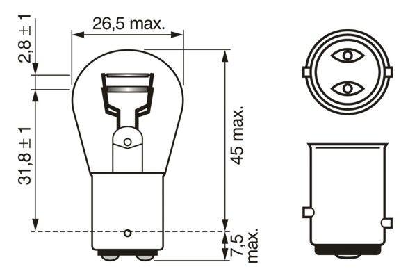 Ampoule, feu de stop (X1)