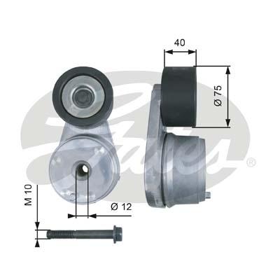 Tendeur de courroie d'accessoires (X1)