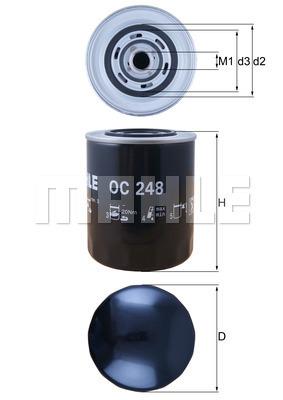 Filtre a huile (X1)