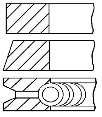Segments de piston GOETZE ENGINE 08-227800-00 (X1)