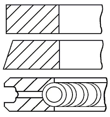 Segments de piston GOETZE ENGINE 08-307600-00 (X1)