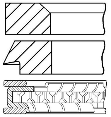 Segments de piston GOETZE ENGINE 08-445600-00 (X1)