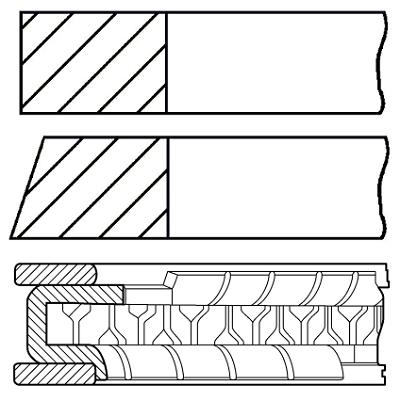 Segments de piston GOETZE ENGINE 08-445900-00 (X1)