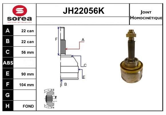Joints spi/homocinetiques (X1)