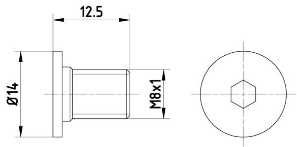 Vis disque de frein arriere (Jeu de 2)