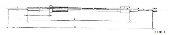 Cable d'ouverture capot CABOR 1176.1 (X1)