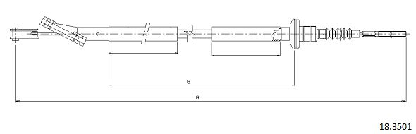 Cable d'embrayage (X1)
