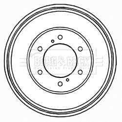 Freins à tambours et Kit arriere BORG & BECK BBR7200 (X1)
