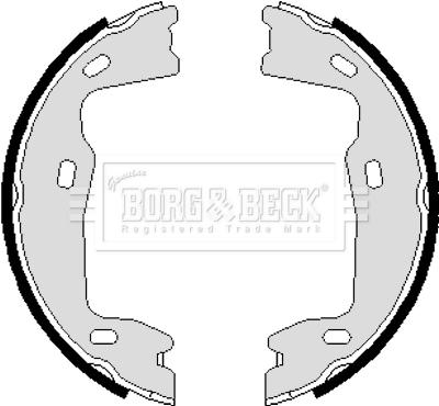 kit de frein arrière simple ou prémonté BORG & BECK BBS6238 (X1)
