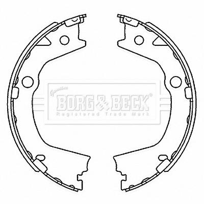 kit de frein arrière simple ou prémonté BORG & BECK BBS6520 (X1)