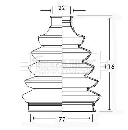 Soufflet de cardan (X1)