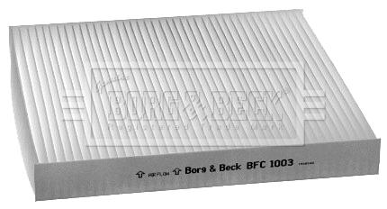 Filtre d'habitacle BORG & BECK BFC1003 (X1)