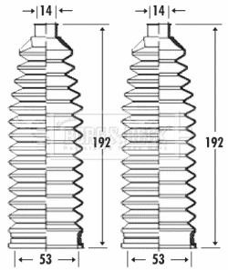 Joints soufflets direction - crémaillère BORG & BECK BSG3290 (X1)