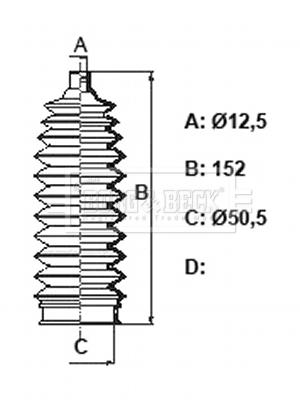 Joints soufflets direction - crémaillère (X1)