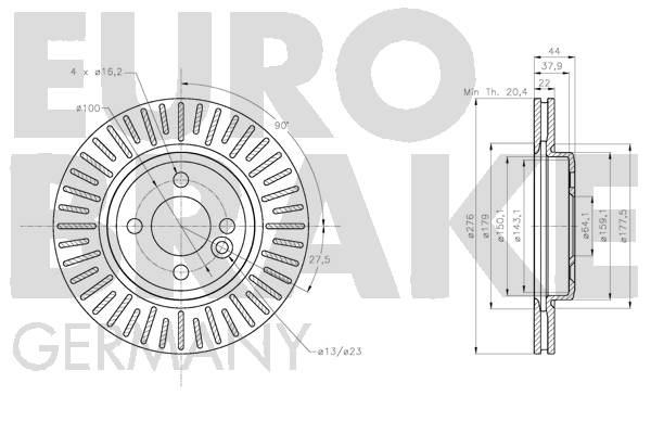 Disque de frein avant (X1)