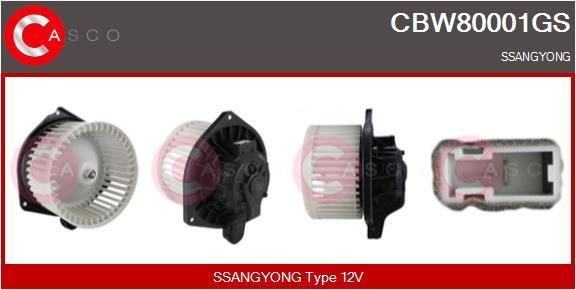 Chauffage et climatisation CASCO CBW80001GS (X1)