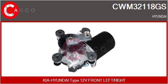 Moteur essuie glace CASCO CWM32118GS (X1)