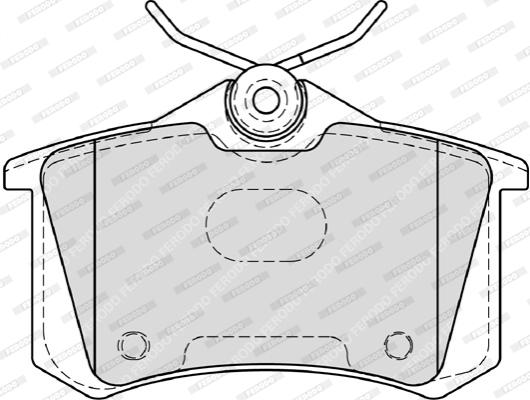 Plaquettes de frein arriere (Jeu de 4)