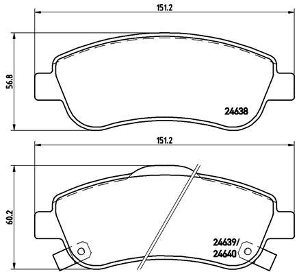 2006-2008 AHL 1 paire avant//arri/ère Plaquette de frein pour FJS 400 Silverwing D6//D7//D8 Non ABS 256mm front disc Parking brake