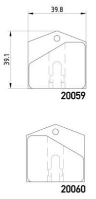 Kit de plaquettes de frein de stationnement (Jeu de 4)