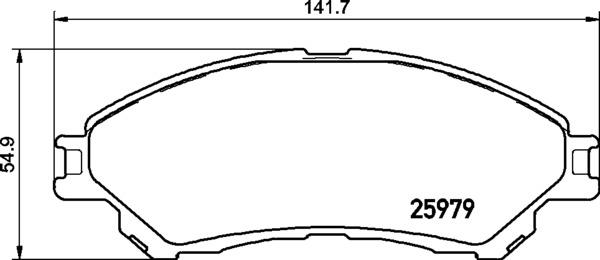 Plaquettes de frein avant (Jeu de 4)