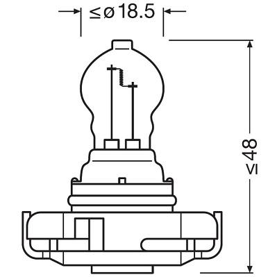 Ampoule, feu stop additionnel (X1)
