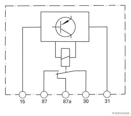 Relais, chauffage de vitre arriere (X1)