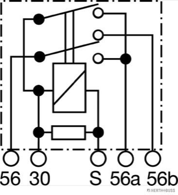 Relais, feu de croisement (X1)