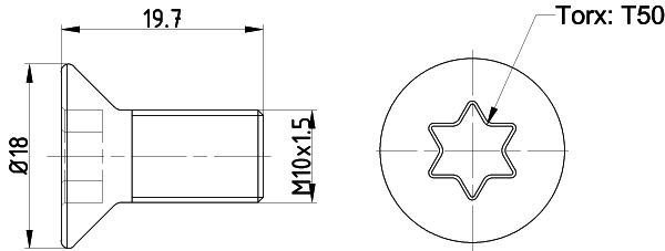 Vis disque de frein arriere (X1)