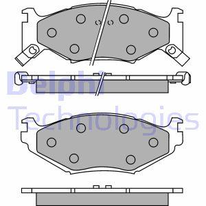 Plaquettes de frein avant DELPHI LP891 (X1)